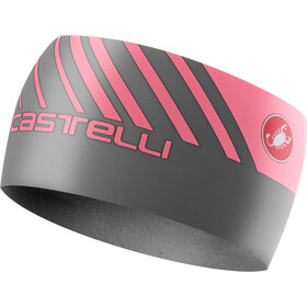 Castelli Arrivo 3 Thermo Headband dark gray/giro pink